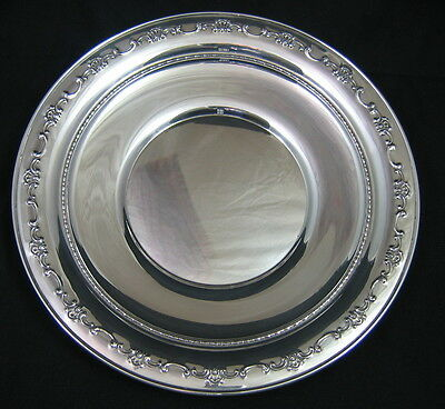 "GORHAM STERLING SILVER CHARGER PLATE 10"" - #1123- 256 grams"