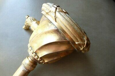 Vintage Sherle Wagner Shower Head Louis Seize or Ribbon Reed Brass Gold