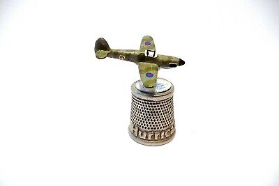 """Thimble Pewter Stephen Frost Handpainted Topper Of The """"Hurricane"""""""