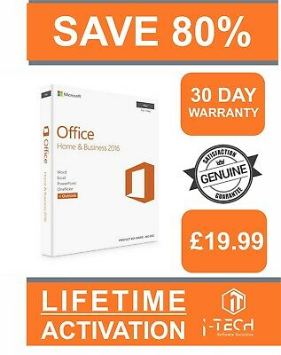 1 YEAR WARRANTY | Microsoft Office 2016 Home & Business for Mac | ACTIVATION KEY