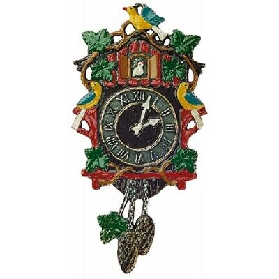 Cuckoo Clock German Pewter Christmas Tree Ornament Decoration Made in Germany
