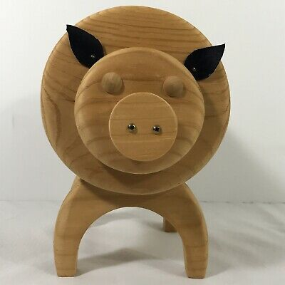 Piggy bank Wooden Bank Maine State Correctional Facility