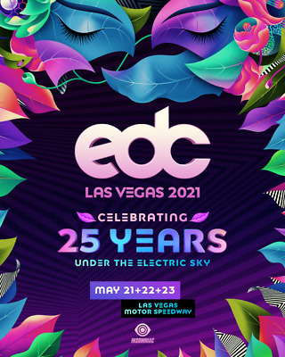 2 Las Vegas EDC 2020 VIP Tickets (Electric Daisy Carnival) 3 Days
