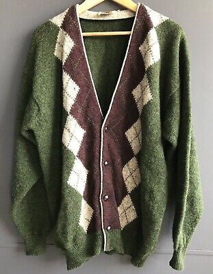 The Natural Clothing Company Men's Green Scotland Wool Sweater, Fast shipping