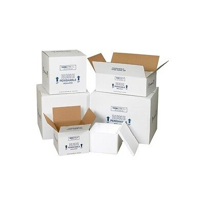 """Insulated Shipping Kits, 13"""" x 13"""" x 12 1/2"""", White, 1/Case"""