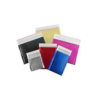 """Glamour Bubble Mailers, 13 3/4"""" x 11"""", Black, 48/Case"""
