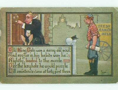 Pre-Linen signed TEMPERANCE - OLD KING COLE DRUNK EVERY NIGHT W7001
