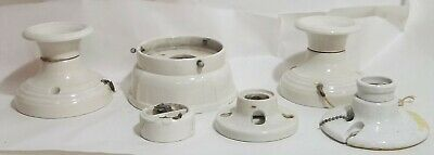 Vintage White Porcelain Electrical Sockets Switches Home Decor Antiques Ceiling