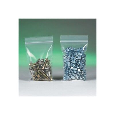 """Reclosable Poly Bags, 6 Mil, 5"""" x 5"""", Clear, 1000/Case"""