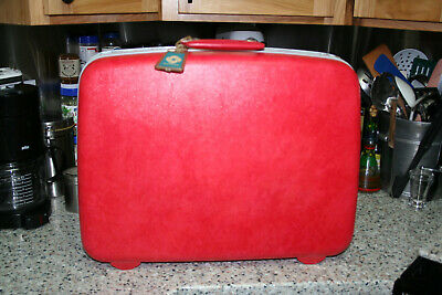 "Samsonite Luggage Cherry Red/Hot Pink ? Silhouette Vintage Aprox. 16"" X 20"""