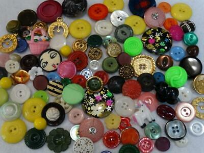 AWESOME LARGE LOT VINTAGE & NEW FANCY BUTTONS Rhinestone Realistic Flower Metal