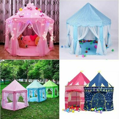 New Children Kids Play Tent Fairy Princess Girls Boys Hexagon Playhouse House AU