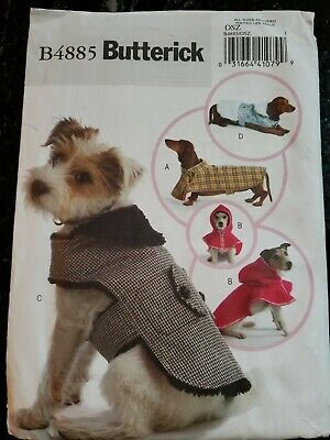 Butterick B6432 Pattern Dog Coat Sizes S-XL BN