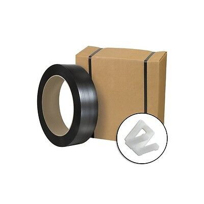 """Jumbo Postal Approved Poly Strapping Kit, 1/2"""" x 9,000', 1 Kit"""