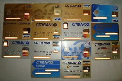 Greece collection lot of 14 CITIBANK expired collectible Greek credit cards