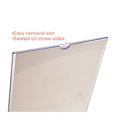deflect-o Stand-Up Double-Sided Sign Holder, Plastic, 8-1/2 x 11, Clear, EA - DE