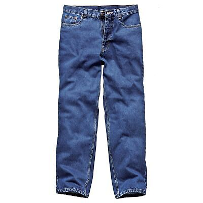 """Dickies Stone Washed Work Jeans, 42"""" Waist x 33"""" Leg in Blue"""