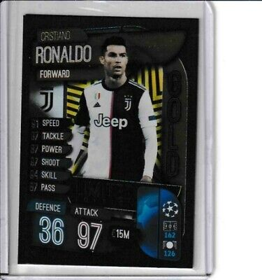 Gold Limited Edition Ronaldo Juventus Match Attax Champions League 2019 20