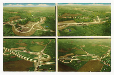 """Aerial View of Ohio's $326,000,000 Turnpike """"The World's Safest Highway"""""""