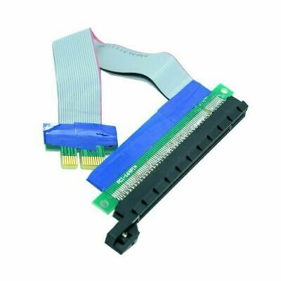 Xiwai PCI-E Express 1x to 16x Extension Flex Cable Extender  Card Adapter
