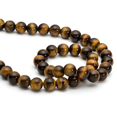 6mm natural tigers eye gemstone beads approx 31 beads