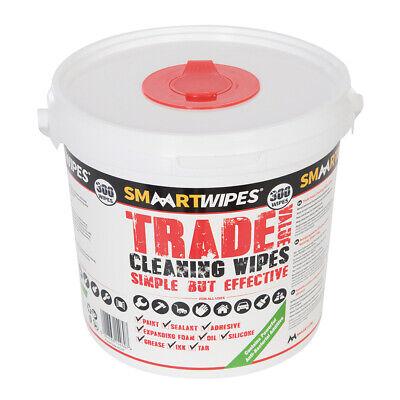 300x Anti-Bacterial Trade Cleaning Wipes -Silicone Paint Oil Degreasing Wet Wipe