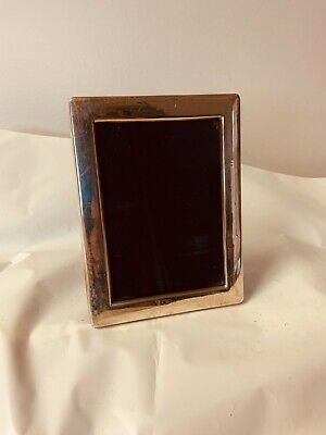 """solid hallmarked silver photo frame 5x3.5 """" picture size"""