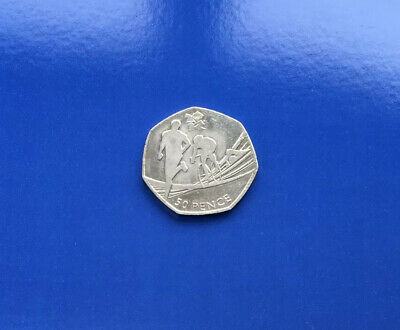 2011 -  50p Fifty Pence Coin, Olympic Triathlon, Circulated, Rare.