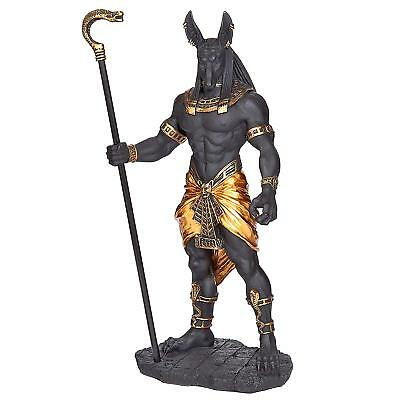 "WU76642 - Anubis, Jackal God of the Egyptian Underworld Statue - 10"" Tall"