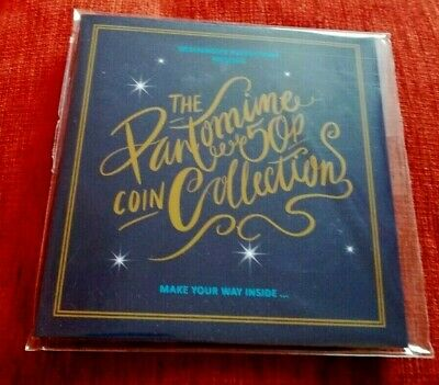 CHRISTMAS PANTOMIME 50p COIN COLLECTION 5 x 50p BRAND NEW SET IN FOLDER SEALED