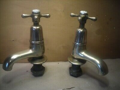 Old shanks heavy Brass bath Taps