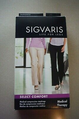 Sigvaris Legs for Life Thigh High 863NS4W33 30-40mmHg Size S4 Natural, EUC