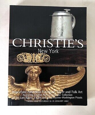 Christie's NY American Furniture, Silver, Folk Art 2002 Catalog English Pottery