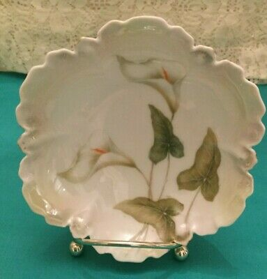 """Beautiful Vintage Calla Lily Pattern Berry Bowls (6) Germany - 5"""""""