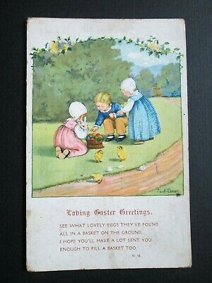 LITTLE CHILDREN, EASTER GREETINGS BY PAULI EBNER - M. M. No 1238 (1920s)