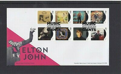 GB 2019 Elton John Royal Mail FDC First Day Cover Music Giants Pinner special pk