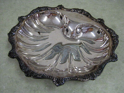 Vintage Collectible Silver Plate - Poole Silver Co - Large Footed Dish-VERY RARE