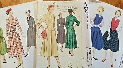 1950s B 33 Mccalls VINTAGE Lot of Sewing Patterns 50's McCall's Uncut