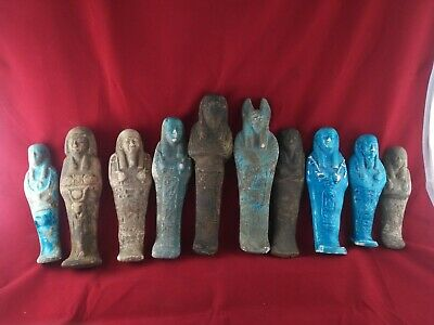 10 Ancient Egyptian Antiques Ushabti  (500 BC)