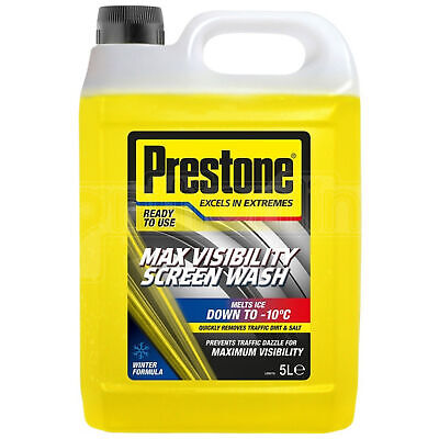 Prestone Max Visibility Screen Wash Winter Ready To Use Mixed Screenwash 5 Litre