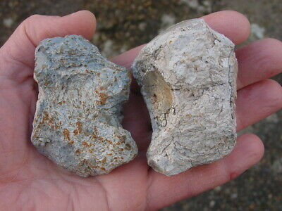 2 Classic LARGE Heat cracked Neolithic Flint POT BOILER's Wiltshire UK