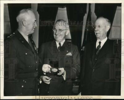 Eddie Rickenbacker With General Henry Hap Arnold 1942 Silver Halide Photo