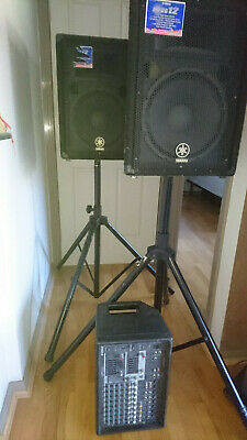 Yamaha Professional 1000 Watt Pa Sound System - Br12 Speakers / Emx512Sc Powered