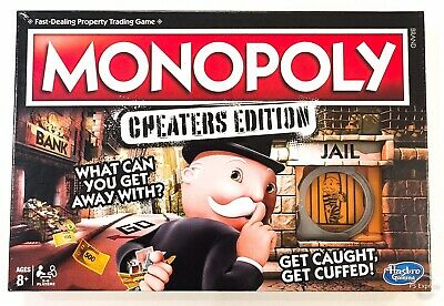 Monopoly Cheaters Edition Board Game New 8+ Years Girls Boys Toys Christmas Gift