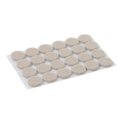 24 PACK - 20mm Round Adhesive Felt Pads - Furniture Feet Scratch Floor Protector
