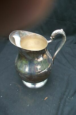Pitcher Silver Plate FB Rogers Taunton Mass Silverplate Vintage Antique B21
