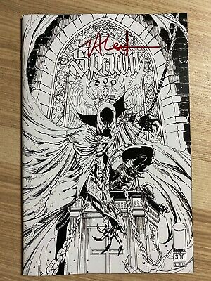 Spawn #300 (2019 Image) J Scott Campbell BW Variant Signed Jason Shawn Alexander