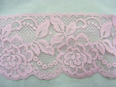 Flat Lace Dusty Rose 70mm wide  5 metres (2144)