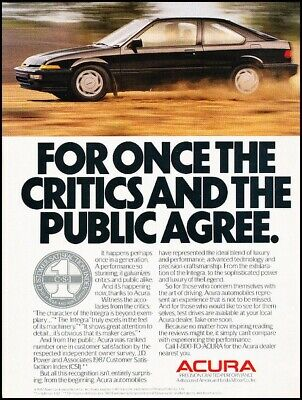 Original Car Advertisement Print Ad J202 1991 Acura Integra Coupe 2-page