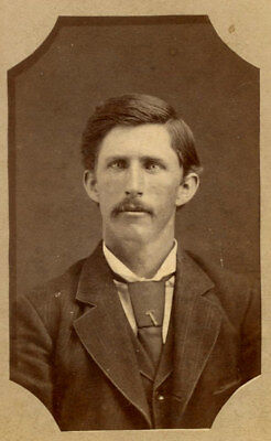 Memorial Antique CDV Photo YOUNG MUSTACHE MAN FASHION by WILL PETERS